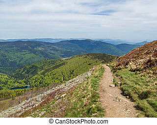 View of vosges hills from Le Grand Ballon