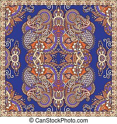 kerchief square pattern design in ukrainian style for print...