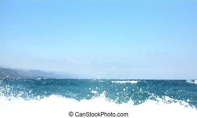 Wavy sea - Wavey sea in windy weather