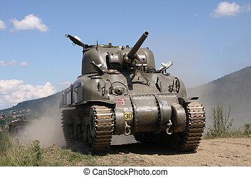 Sherman Tank %u2013 WW II - American tank Sherman M41A...