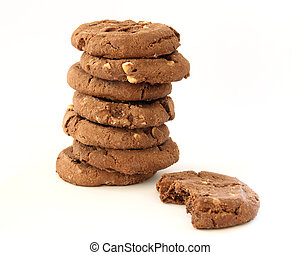 Stack of chocolate chip cookies - Stack of several chocolate...