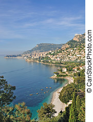 french Riviera near Monaco - the picturesque french riviera...