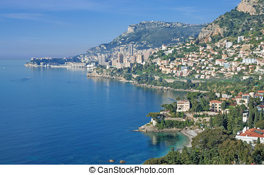 Monaco,french Riviera - the Coast of Monaco,french...