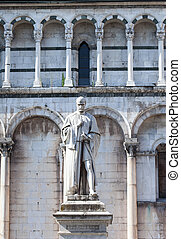 Statue of Francesco Burlamacchi in Lucca - The statue of...