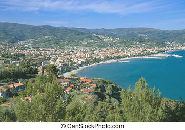 Diano Marina,Liguria,Italy - View to Diano...