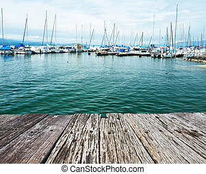 Yachts at Ouchy port, Lausanne, Switzerland - Yachts at...