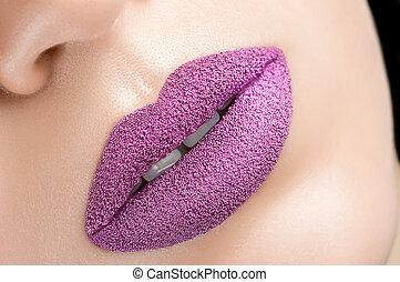 Beautiful purple lips