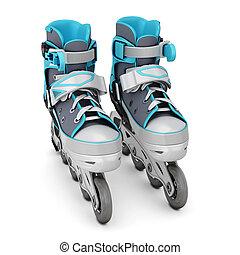 Roller skate isolated on white background 3d illustration