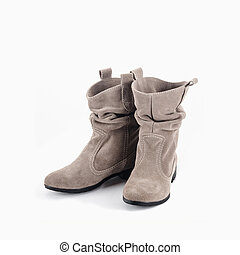 Womens boots - Women's shoes on a white background