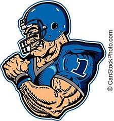 football player - muscular football player mascot