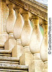 balustrade, architectural detail closeup