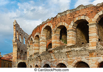 Roman Arena in Verona, Italy - Ancient Roman Arena in...