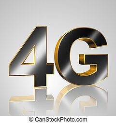 3D Text Mobile network 4G - 3d text for business and website...
