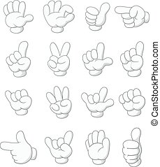 Cartoon collection hand shape