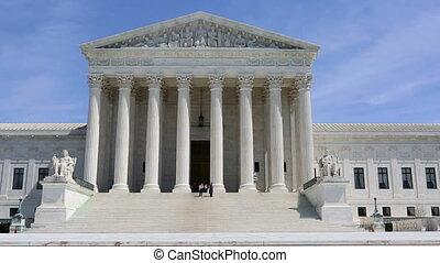 US Supreme Court Building - Tourists visit the Supreme Court...