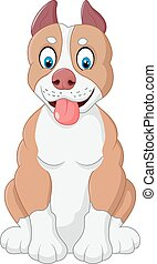 Cartoon adorable dog - Vector illustration of Cartoon...