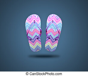 Flip flop sandals - Colored flip flop sandals. Sandals on...