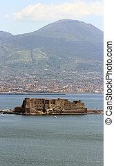 Castel dell Ovo in Naples - The ancient Castel dell Ovo in...