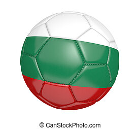 Soccer ball with flag of Bulgaria - Soccer ball, or...