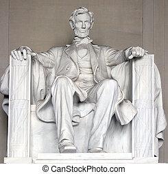 primer plano,  Lincoln, monumento conmemorativo