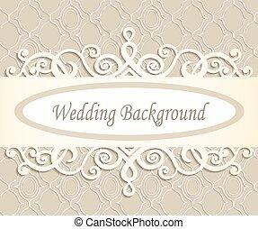 cream wedding background with a retro  pattern in beige