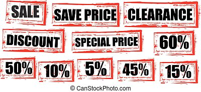 Sale red tags clearance shopping