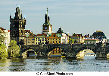 Charles Karluv Bridge in Prague - Charles Karluv Bridge in...