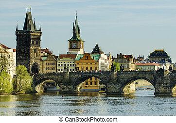 Charles Karluv Bridge in Prague - Charles Karluv Bridge in...