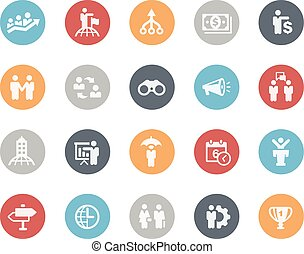 Business Concepts Icons -- Classics - Vector icons for your...