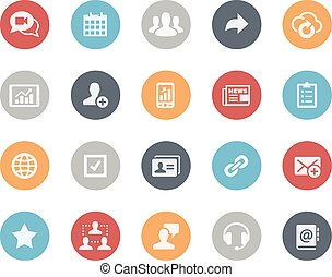 Business Network Icons -- Classics - Vector icons for your...