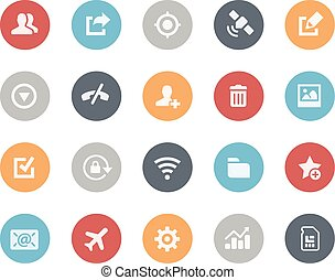 Web and Mobile Icons 2 -- Classics - Vector icons for your...