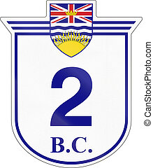 British Columbia Highway 2 - Shield for the British Columbia...