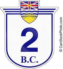 British Columbia Highway 2 - Shield for the British Columbia...