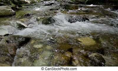 River in the mountain - River panorama in the mountain
