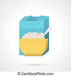 Breakfast cereal flat color vector icon - Single flat color...