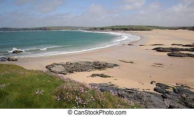 Harlyn Bay waves North Cornwall - Harlyn Bay North Cornwall...