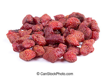 dried strawberries isolated on a white background