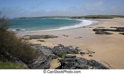 Harlyn Bay coast North Cornwall uk - Harlyn Bay North...