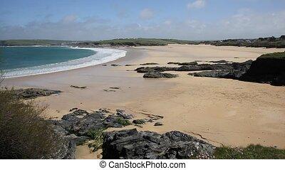 Harlyn Bay North Cornwall uk - Harlyn Bay North Cornwall...