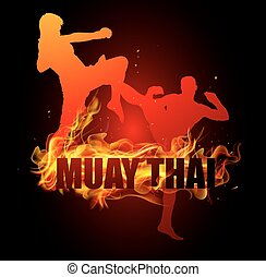 Thai boxing is fighting in postures - Thai boxing is jumping...