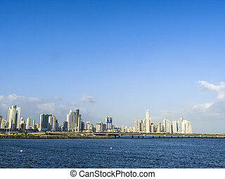 skyline downtown Panama City, Marbella and Bella Vista...