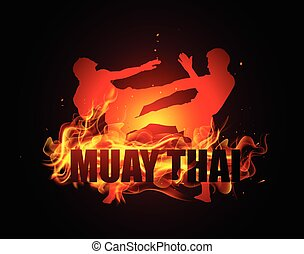 Thai boxing is kicking with fire - Thai boxing is kicking...