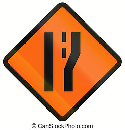 Road Widens In Indonesia - Indonesian temporary road warning...
