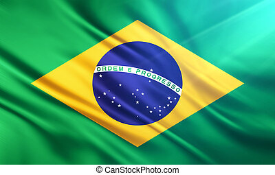 The National Flag of Brazil - The National Flag illustration...