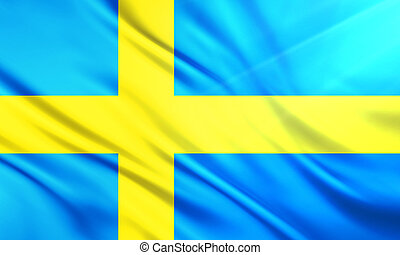 The National Flag of Sweden - The National Flag illustration...