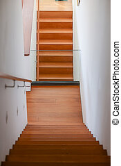 staircase in Two-storey house, home