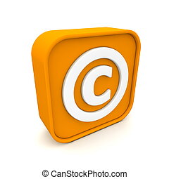 Copyright like RSS - orange RSS like copyright symbol...