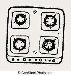 gas stove doodle