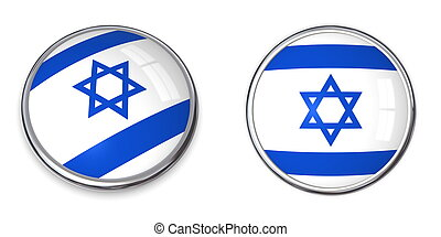 Banner Button Israel - button style banner in 3D of Israel