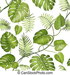Tropical leaves design. - Tropical leaves design for fabric...